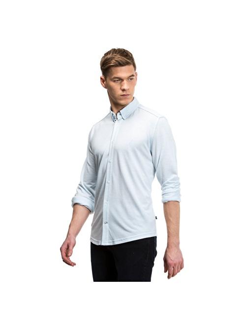 Nautica Uzun Kollu Gömlek Mavi